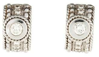 Penny Preville 18K Diamond Huggie Earrings