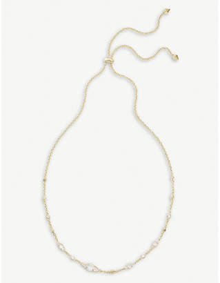 Kendra Scott Debra 14ct gold-plated and cubic zirconia choker necklace