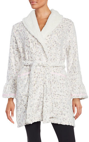 Juicy CoutureJuicy Couture Sherpa-Trimmed Logo Robe