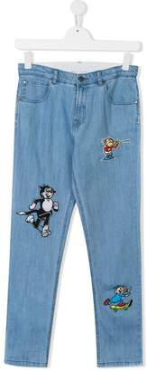 Stella McCartney TEEN Dandy patches jeans