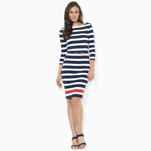 Ralph Lauren Striped Boatneck Dress