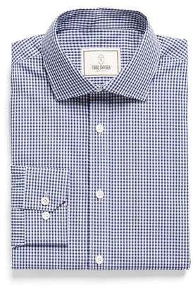Todd Snyder White Label Spread Collar Dress Shirt in Blue Plaid