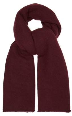 Denis Colomb Frayed Cashmere Scarf - Womens - Burgundy