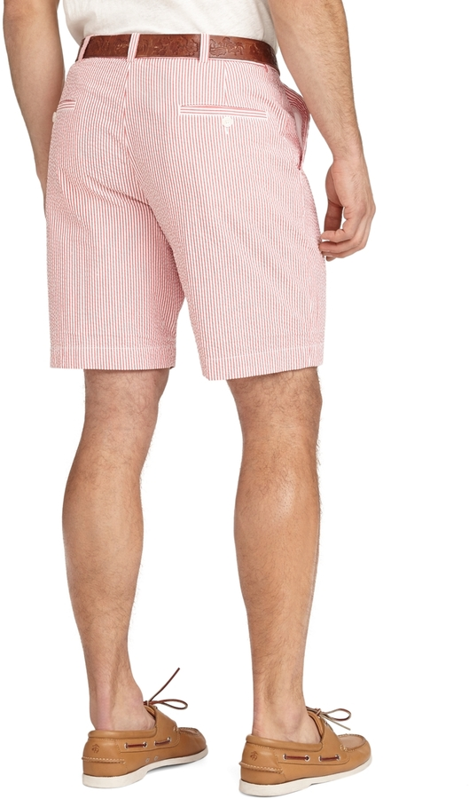 Brooks Brothers Plain-Front Seersucker Shorts