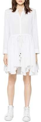 Zadig & Voltaire Ranil Tonal-Stripe Shirt Dress