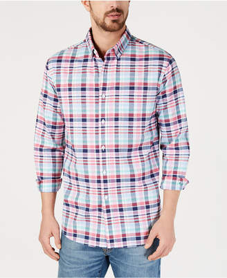 Club Room Men's Paxton Plaid Oxford Shirt, Created for Macy's