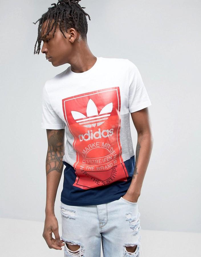 adidas Originals T-Shirt With Large Logo Print BQ3136