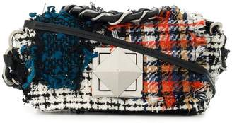 Sonia Rykiel Le Copain patchwork tweed shoulder bag