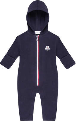 Moncler Hooded Zip-Front Coverall, Size 12M-3