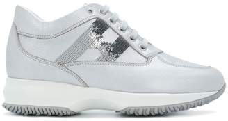 Hogan mid-top platform logo sneakers
