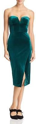 Yumi Kim Allure Strapless Velvet Dress