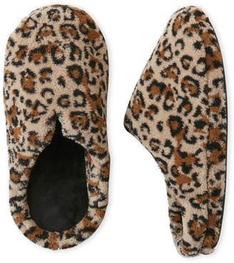 Dearfoams Microfiber Leopard Clog Slippers