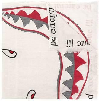 Faliero Sarti colour-block embroidered scarf