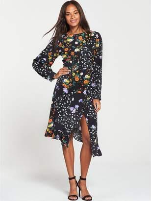 Very Patch Print Wrap Midi Dress - Printed
