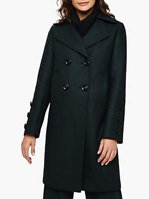 Betsie Button Cuff Coat, Forest