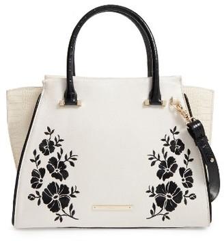 Brahmin Priscilla Boracay Embroidered Leather Satchel - Ivory $455 thestylecure.com