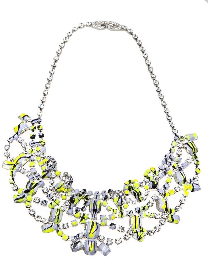 Tom Binns hand painted chandelier necklace