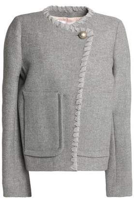 See by Chloe Whipstitched-Trimmed Wool-Blend Jacket