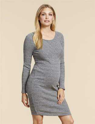 Jessica Simpson Motherhood Maternity Rib Knit Maternity Dress