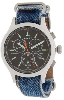 Timex Men's Allied Chronograph Denim Strap Watch, 42mm