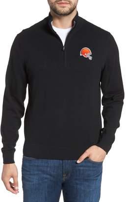 Cutter & Buck Cleveland Browns - Lakemont Regular Fit Quarter Zip Sweater