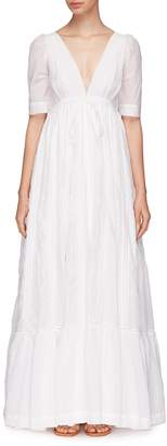 Kalita 'Uschi' ladder trim maxi dress