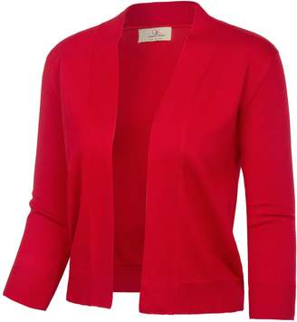 368144cc176c6 GRACE KARIN Fashion Half Sleeve Bolero Jacket Shrug for Teen Girls (L