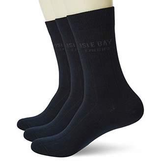 Isle Bay Linens Men's Hemp Cotton Business Dress Crew Socks Moisture Wicking