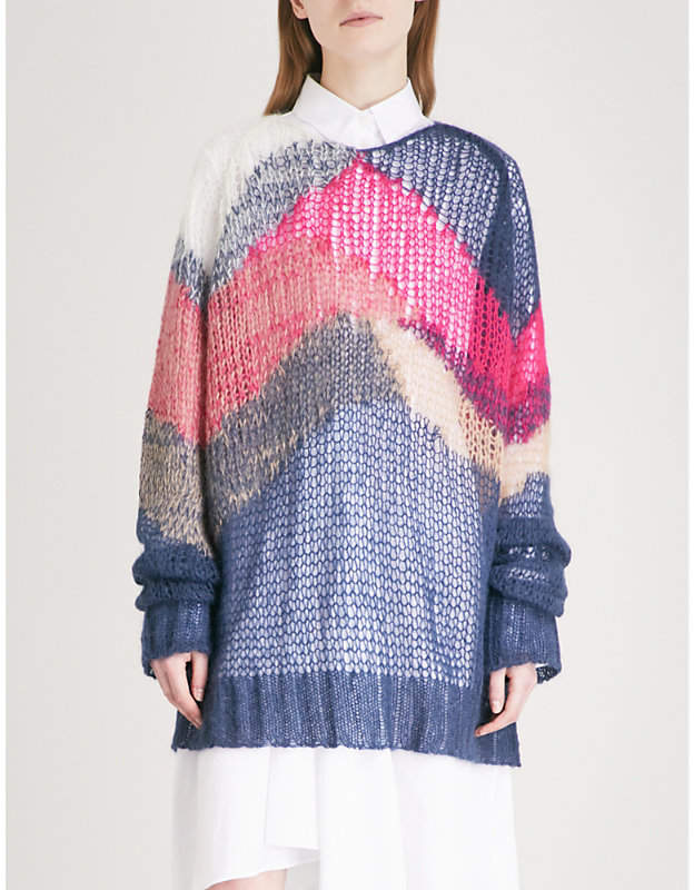 Panels knitted jumper