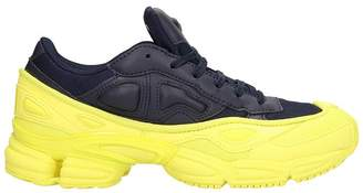 Adidas By Raf Simons Ozweego Blakc/yellow Leather Sneakers