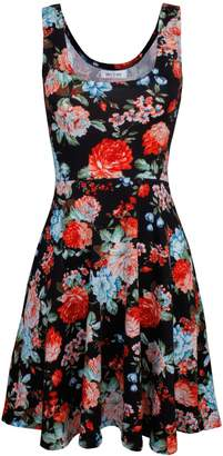 Toms Tom's Ware Womens Casual Fit and Flare Floral Sleeveless Dress TWCWD054-US XL-CA