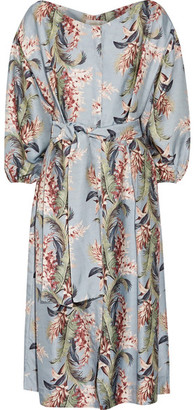 Zimmermann - Winsome Printed Twill Dress - Light denim $850 thestylecure.com