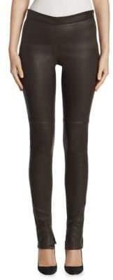 Akris Slim-Fit Leather Pants