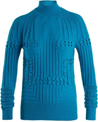 Hardy high-neck panelled ribbed-knit sweater