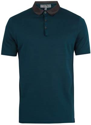 Lanvin Contrast-collar cotton-piqué polo shirt
