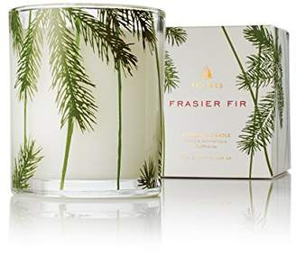 Thymes Frasier Fir Pine Needle Decorative Glass Jar Candle with 50-Hour Burn Time - 6.5 Ounces