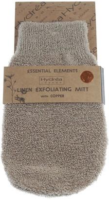 Hydrea London Exfoliating Linen Mitt with Copper