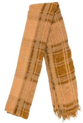 Oska Plaid Wool-Blend Scarf