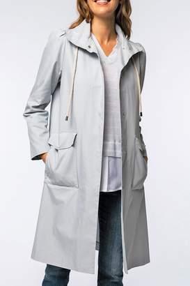 Tasha Tyler Boe Water-Repellent Trench-Coat