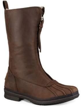 UGG Arquette Piedmont Fur-Trimmed Leather Boots