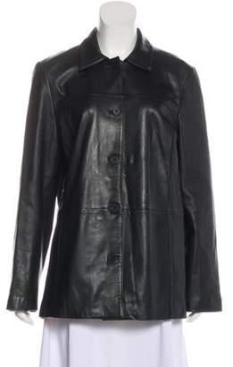 Brooks Brothers Leather Short Coat