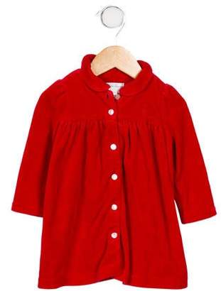 Ralph Lauren Girls' Velour Collared Dress