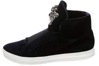 Versace Velvet Palazzo Sneakers