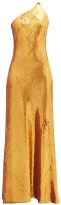Galvan Roxy Sequinned One Shoulder Gown - Womens - Bronze