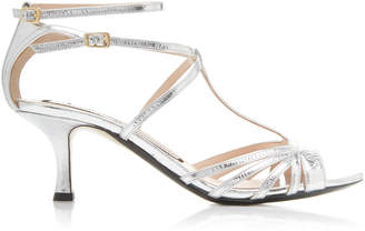 N°21 Metallic Leather Sandals