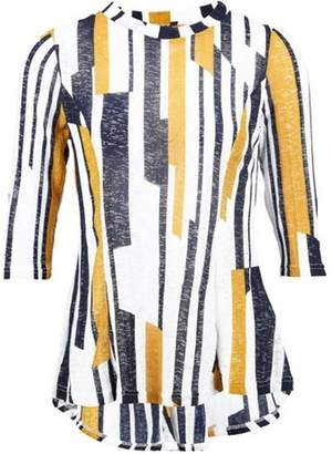 Dorothy Perkins Womens *Izabel London Mustard Striped Tunic Top