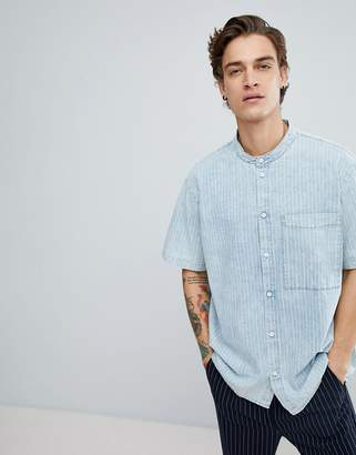 Dr. Denim Sergei Stripe Short Sleeve Shirt