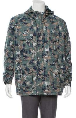 Billionaire Boys Club Camouflage Print Hooded Parka