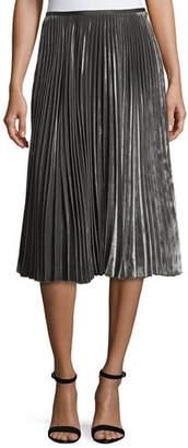 Lafayette 148 New York Ranella Pleated Velvet Skirt