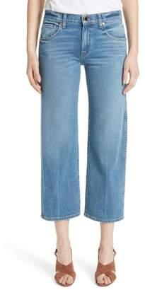 Khaite Wendall Wide Leg Crop Jeans
